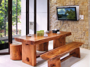 Set Meja Makan Suar Wood