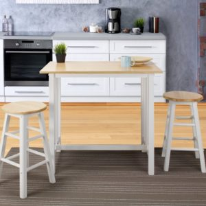 Set Meja Bar Dapur Scandinavian